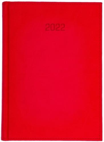 Kalendarz książkowy tygodniowy A4 VIVELLA CZERWONY