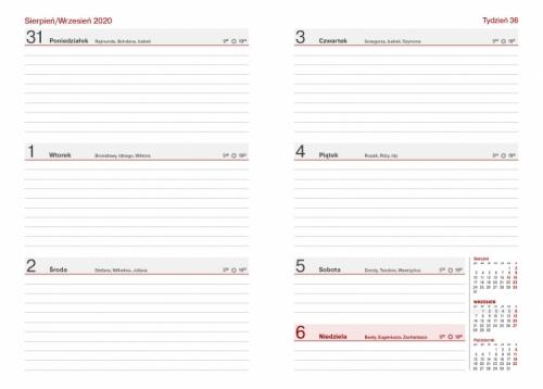 Kalendarz Nauczyciela A5 Tygodniowy DENIM