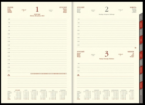 Kalendarz książkowy dzienny B5 PIKO na magnes